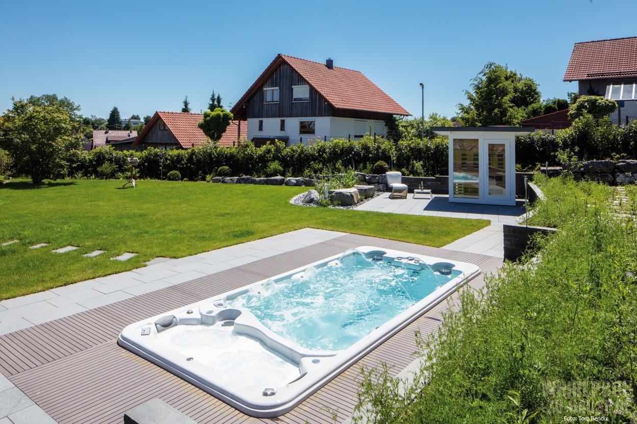 Spacious Whirlpool Für Garten Decoration Of Denn Hier Haben Die Bauherren Mit Kombi-sauna,